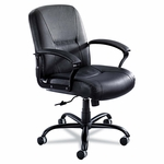 Safco® Serenity Series Big & Tall Mid-Back Chair - Black Leather [SAF3501BL-FS-NAT]