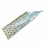 Safco® Sheet File Pivot Wall Rack - 12 Hanging Clamps - 24w x 14 3/4d x 9 3/4h - Sand [SAF5016-FS-NAT]