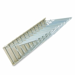Safco® Sheet File Pivot Wall Rack,12 Hanging Clamps,24''W x 14-3/4''D x 9-5/8''H,Sand [SAF5016-FS-NAT]