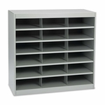 Safco® Steel Project Center Organizer - 18 Pockets - 37 1/2 x 15 3/4 x 36 1/2 [SAF9264GR-FS-NAT]