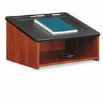 Safco® Tabletop Lectern,  24''W x 18-1/2''D x 13-3/4''H,  Cherry/Black [SAF8916CY-FS-NAT]