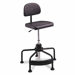 Safco® TaskMaster Series EconoMahogany Industrial Chair - Black [SAF5117-FS-NAT]