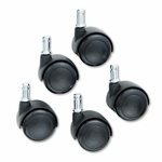 Safco® TaskMaster Hard Floor Casters - Black - 5/Set [SAF5132-FS-NAT]