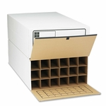 Safco® Tube-Stor Roll File - Storage Box - 24 x 37-1/2 x 12 - White - 2/Ctn [SAF3094-FS-NAT]