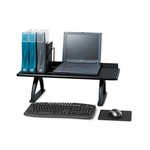 Safco® Value Mate Desk Riser,  100-Pound Capacity,  30 x 12 x 8,  Black [SAF3602BL-FS-NAT]