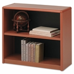 Safco® Value Mate Series Bookcase,  2 Shelves,  31-3/4''W x 13-1/2''D x 28''H,  Cherry [SAF7170CY-FS-NAT]