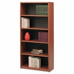 Safco® Value Mate Series Bookcase,5 Shelves,31-3/4''W x 13-1/2''D x 67''H,Cherry [SAF7173CY-FS-NAT]
