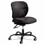 Safco® Vue Intensive Use Mesh Task Chair - Polyester Seat - Black [SAF3397BL-FS-NAT]