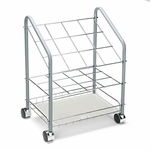 Safco® Wire Roll/File - 12 Compartments - 18w x 12-3/4d x 24-1/2h - Gray [SAF3090-FS-NAT]