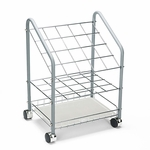 Safco® Wire Roll/File - 20 Compartments - 18w x 12-3/4d x 24-1/2h - Gray [SAF3091-FS-NAT]