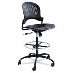 Safco® Zippi Plastic Extended-Height Chair - Black [SAF3386BL-FS-NAT]