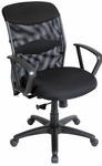 Salambro Mesh Fabric Height Adjustable Manager's Chair - Black [CH726-FS-ALV]