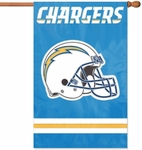 San Diego Chargers Applique Banner Flag [AFSD-FS-PAI]