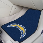 San Diego Chargers Carpet Car Mat 2 Pc 18'' x 27'' [5847-FS-FAN]