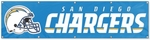 San Diego Chargers Giant 8' x 2' Banner [BSD-FS-PAI]