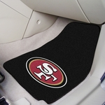 San Francisco 49ers Carpet Car Mat 2 Pc 18'' x 27'' [5833-FS-FAN]