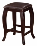 San Francisco Square Top 24''H Counter Stool - Brown [178204BRN01-FS-LIN]