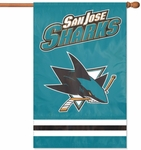 San Jose Sharks Applique Banner Flag [AFSHA-FS-PAI]