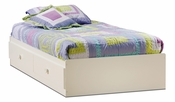 Sand Castle Collection Twin Mates Bed (39'') Pure White