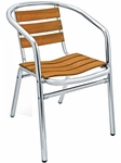 Sand Key Collection Aluminum Frame Stackable Outdoor Arm Chair [AL-302TK-FLS]