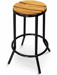 Sand Key Collection Backless Black Frame Outdoor Barstool [BAL-607TK-FLS]