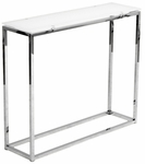 Sandor Console Table in White Glass [28033PUREWHT-FS-ERS]