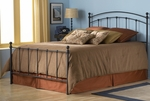Sanford Simple Metal Bed with Frame - Twin - Matte Black [B41443-FS-FBG]