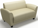 Santa Cruz Lounge Settee - Almond Leather [VCC2BLKA-FS-MAY]
