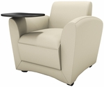 Santa Cruz Mobile Lounge Chair with Tablet - Almond Leather [VCCMTALM-FS-MAY]