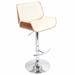 Santi Bar Stool in Walnut and Cream [BS-JY-SNT-WL-CR-FS-LUMI]