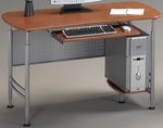 Eastwinds Santos PC Desk with Slide Out Keyboard Tray - Medium Cherry Top with Metallic Gray Frame [925MEC-FS-MAY]