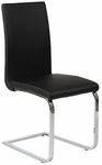 Santos Side Chair in Black [02301BLK-FS-ERS]
