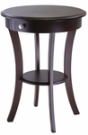 Sasha Round Accent Table in Cappuccino [40627-FS-WWT]