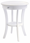 Sasha Round Accent Table in White [10727-FS-WWT]
