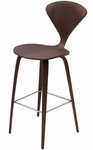 Satine Am Walnut Bar Stool in Dark Walnut [HGEM353-FS-NVO]