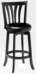 Savana Wood 25.5'' Counter Height Stool with Black Vinyl Swivel Seat - Black [4495-827-FS-HILL]