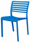Savannah Outdoor Stackable Side Chair - Blue [SC-2603-162-BLU-SCON]