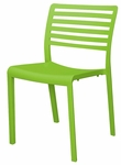Savannah Outdoor Stackable Side Chair - Green [SC-2603-162-GRN-SCON]