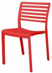 Savannah Outdoor Stackable Armless Side Chair - Red [SC-2603-162-RED-SCON]