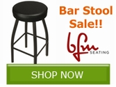 Save up to 10% off select bar stools from BFM Seating