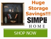 Get storage pieces for your home and save with Simpli Home!!