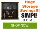 Get storage pieces for your home and save with Simpli by