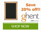 Save 20% off on Select Ghent by