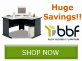 Save now on select Bush Business Furniture Desks!!