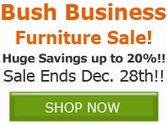 Save up to 20% off Select Bush Business Furniture Products!!