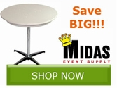 Save BIG on select Midas Event Supply Products!!