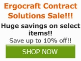 Save 10% off select items from Ergocraft Contract Solutions!