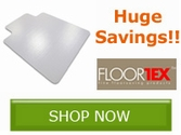 Hige Savings on select Floortex Chair Mats!!