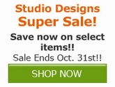 Save now on select Studio Design Products!!
