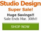 Studio Design Super Sale!! Save by